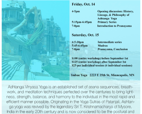 Ashtanga Immersion w/ Joey Paz Oct 14th-15th
