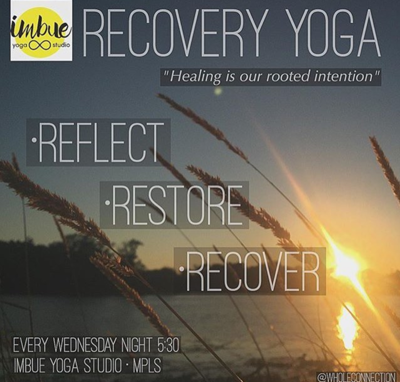 Recovery Yoga – Wednesdays 5:45pm