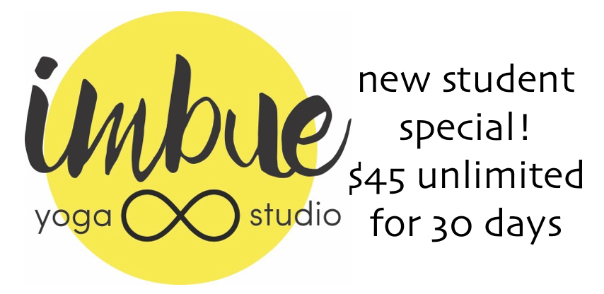 Imbue Yoga Minneapolis New Student Special