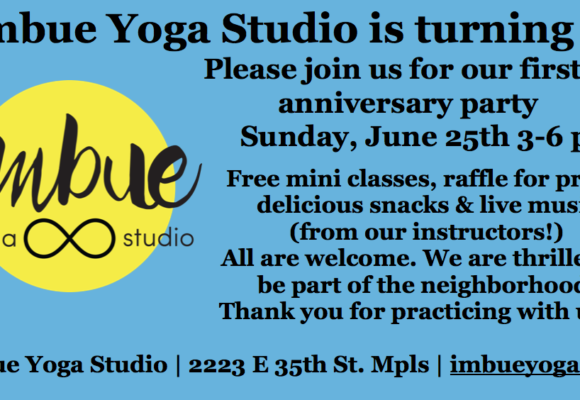 Imbue 1st Anniversary Party – June 25th