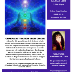 Chakra Activation Drum Circle Saturday March 10th 7pm